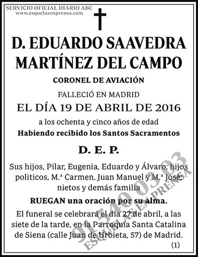 Eduardo Saavedra Martínez del Campo